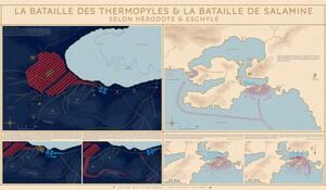 Poster La Bataille des Thermopyles et la bataille de Salamine