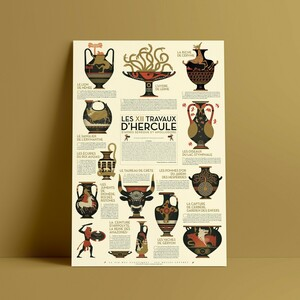 Poster Les Douze Travaux d'Hercule