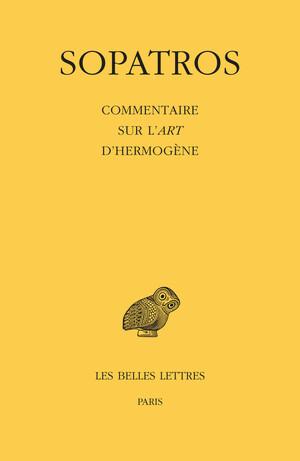 Commentaire sur l'Art d'Hermogène